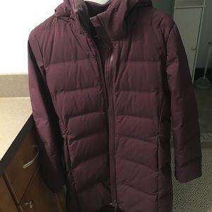 Uniqlo long puffer coat
